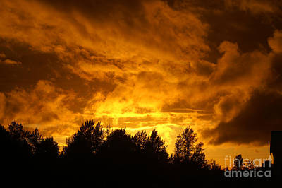 Orange Stormy Skies Print by Randy Harris