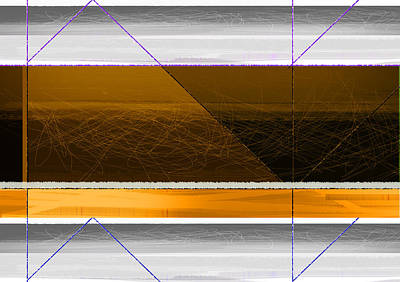 Orange Stripe Print by Naxart Studio