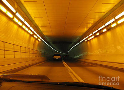 Orange Tunnel In Dc Print by Ausra Huntington nee Paulauskaite