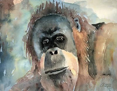 Orangutan Painting - Orangutan by Arline Wagner