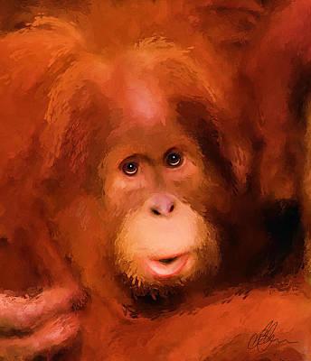 Orangutan Mixed Media - Orangutan by Michael Greenaway
