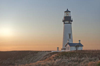 Yaquina Head Lighthouse Photograph - Oregon Coast Light by Christian Heeb