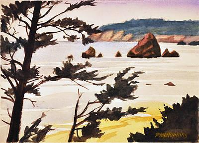 Phil Hopkins Painting - Oregon Coast by Phil Hopkins