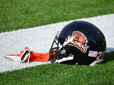 Oregon State Photograph - Oregon State Helmet by Replay Photos