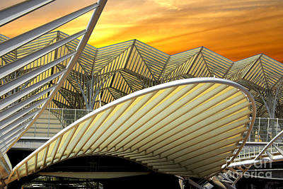 Abstract Photograph - Oriente Station by Carlos Caetano