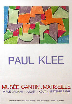 Original Klee Exhibition Poster Musee Cantini 1967 Original by Paul Klee