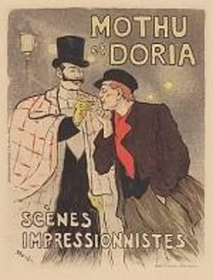 Original Vintage French Poster Jules Cheret Mothu And Doria Maitre De L'affiche Original by Theophile Steinlen