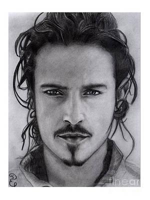 Orlando Bloom Drawing - Orlando Bloom Original Pencil Drawing by Debbie Engel