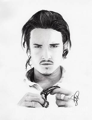 Orlando Bloom Print by Rosalinda Markle