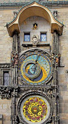 Orloj - Prague Astronomical Clock Print by Christine Till