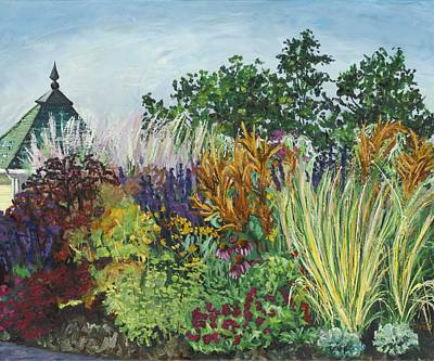 Ornamental Grasses In Longfellow Gardens Print by Christina Plichta