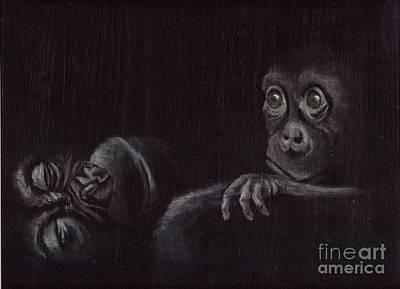 Poachers Painting - Orphan by Annemeet Hasidi- van der Leij