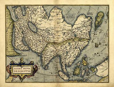 Ortelius's Map Of Asia, 1570 Print by Library Of Congress, Geography And Map Division