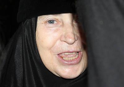 Orthodox Woman At Nativity Church Original by Munir Alawi