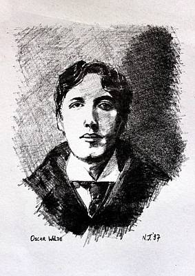 Restaurant Art Drawing - Oscar Wilde by John  Nolan