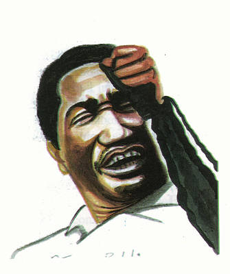 Macon Drawing - Otis Redding by Emmanuel Baliyanga