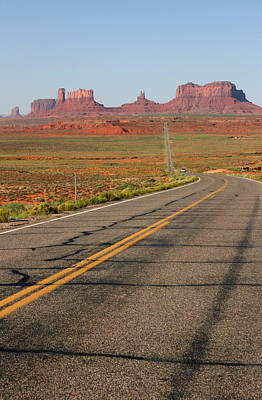 Stone Trough Photograph - ouest USA route monument valley road by Audrey Campion
