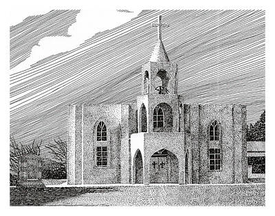 Mesilla Drawing - Our Lady Of Guadlupe by Jack Pumphrey