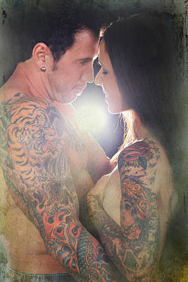 Tattoo Photograph - Our Love Shines by Laurie Search