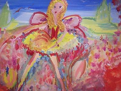 Scouse Painting - Our Mary Scouse Fairy by Judith Desrosiers