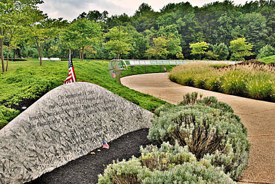 Matix Photograph - Our Nation Lost 2973 People - Garden Of Reflection by Angie Tirado