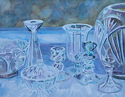 Crystals Painting - Out For Spring Cleaning by Jenny Armitage