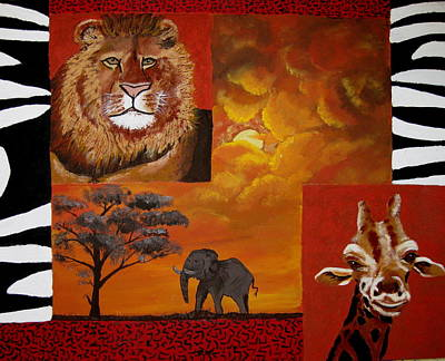 Out Of Africa Print by Susan McLean Gray