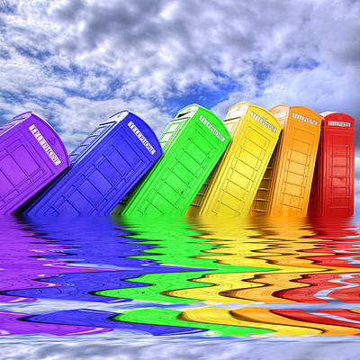 Out Of Order - A Rainbow - Kingston - Surrey Print by Colin J Williams Photography