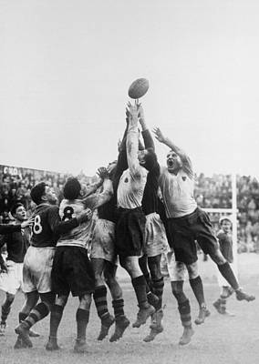 Rugby Photograph - Out Of Reach by George Hales