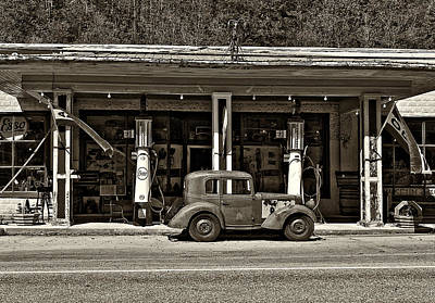 Esso Photograph - Out Of The Past Sepia by Steve Harrington