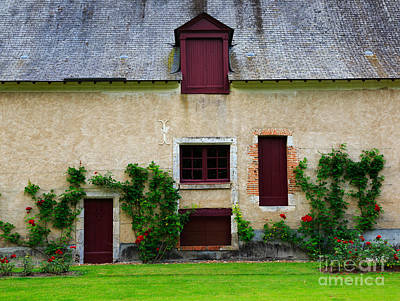 Rose Photograph - Outbuildings Of Chateau Cheverny by Louise Heusinkveld