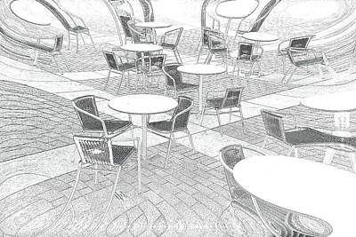 Empty Chairs Photograph - Outdoor Cafe by Tom Gowanlock