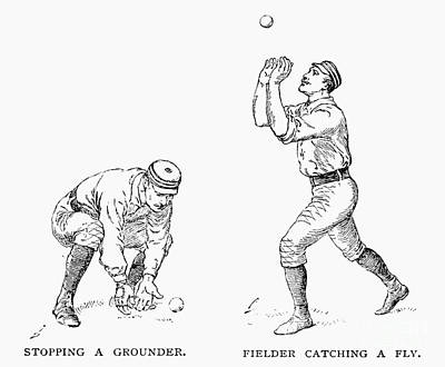 Outfielder, 1889 Print by Granger