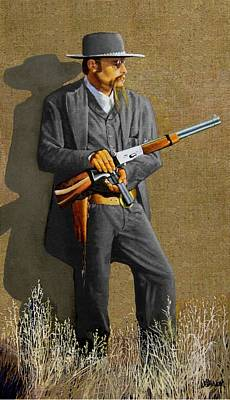 Bank Robber Painting - Outlaw Sam Bass by Ronald Wilkinson