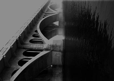 Over The Bridge Print by JC Photography and Art