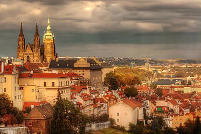 Prague Digital Art - Overlook Prague by John Galbo