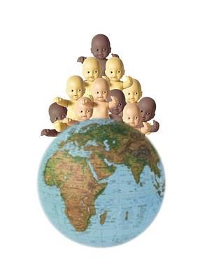 Ethnic Dolls Photograph - Overpopulation,conceptual Image by Cristina Pedrazzini