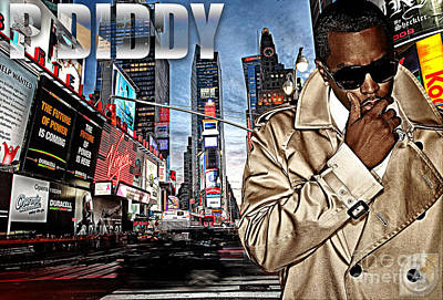 Diddy Mixed Media - P Diddy by The DigArtisT