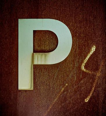 P Four Print by Odd Jeppesen