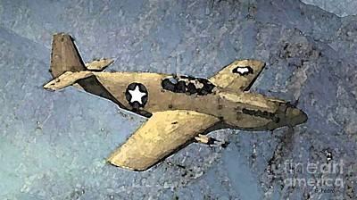 George Pedro Art Painting - P51 Mustang In Flight by George Pedro