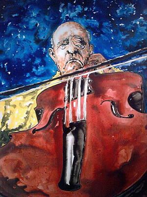 Pablo Casals Print by Omar Javier Correa