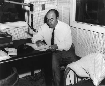Pablo Neruda 1904-1973, Chilean Poet Print by Everett