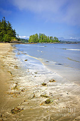 Vancouver Photograph - Pacific Ocean Coast On Vancouver Island by Elena Elisseeva
