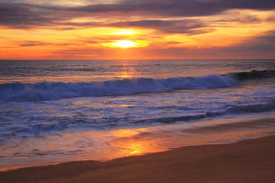 Ocean Photograph - Pacific Surf At Sunset by Roupen  Baker