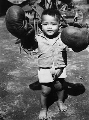 Boys Boxing Photograph - Packing A Punch by Fox Photos