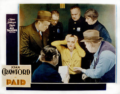Paid, Joan Crawford Center, 1930 Print by Everett
