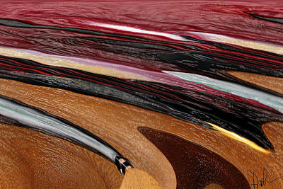 Paint Strokes Print by Pam Gleichman