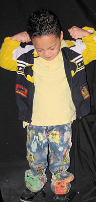 Etc. Mixed Media - Painted Boys Jeans by HollyWood Creation By linda zanini