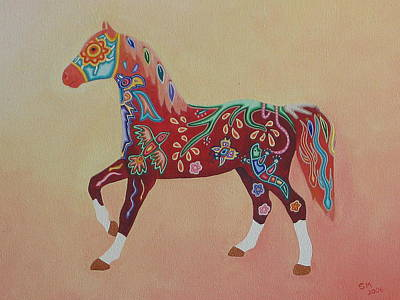 Painted Horse A Print by Sonia Stiplosek