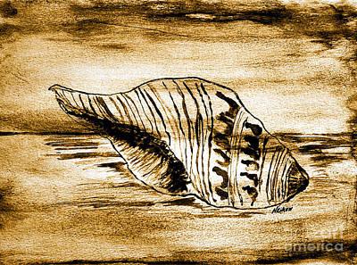 Painted Seashell Print by Marsha Heiken